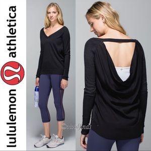 Lululemon Unity Pullover Heathered Black Black 6